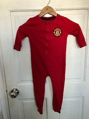 Primark Boys Girls Kids MANCHESTER UNITED Sleepsuit Pyjamas Costume 4-5