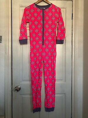 Girls Neon Pink Cotton All In One Sleepsuit Pyamas Primark Age 13 Years