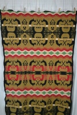 blanket wool camp lodge native American Trade New Mexico unusual vintage