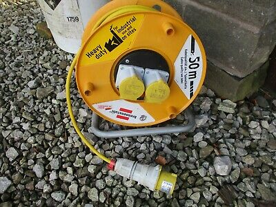 50M 110V 2 x 16A SOCKET EXTENSION ELECTRICAL CABLE REEL LEAD BRENNENSTUHL IP44