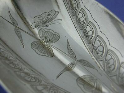"""Wonderful Sterling DURGIN 9 1/2"""" Berry Serving Spoon AESTHETIC foliage butterfly"""