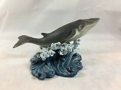Herco Resin Humpback Whale On A Wave Statue