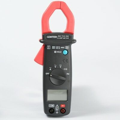 H● CENTER-202 Auto Ranging AC/DC True RMS Current Clamp Meter