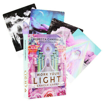 44Pcs Sheets Work Your Light Oracle Cards By Rebecca Campbell Mind Body Spirit