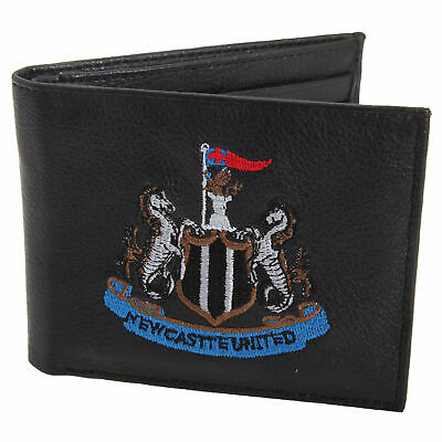 Newcastle United Official Leather Wallet Embroidered Football Crest (SG599)