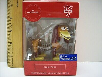 Hallmark Red Box Walmart Exclusive Disney Toy Story 4 Slinky Dog Ornament 2019