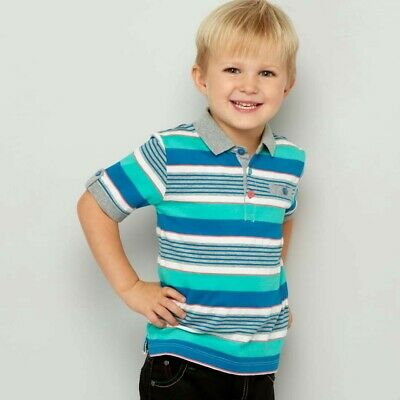 BNWT Baker by Ted Baker Boys Striped Polo Shirt Age 5-6 years