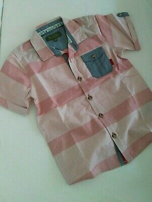 BNWOT Baker by Ted Baker Boys Striped Shirt Age 4-5 years