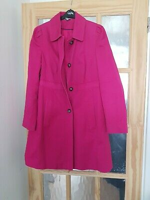 Marks and Spencer m & s fuchsia pink spring summer coat  jacket Size 14 pretty