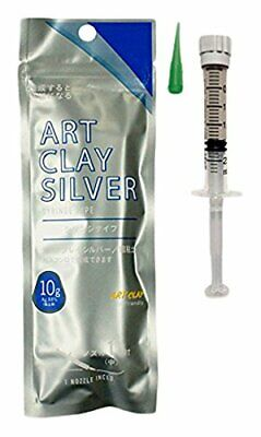 with 3 nozzles New Art Clay Silver Syringe Type 10 g A-0281 F//S Japan Import