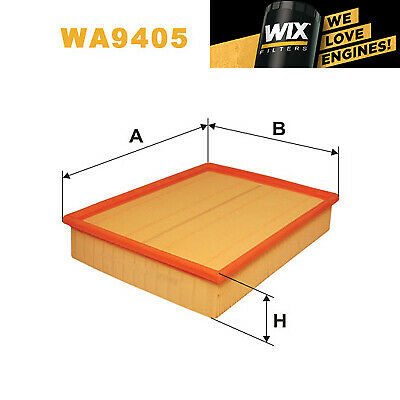 Wix WA9476 Car Air Filter Panel Replaces C33194 CA9636 LX868