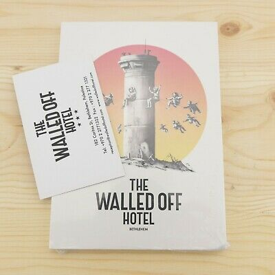 Banksy The Walled Off Hotel Postcard Set of 12 Postcards Sealed Brand New Kaws