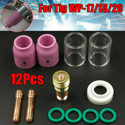 For Tig WP-17/18/26 702079 Torch Consumables Soldering Welding Stubby Gas Lens