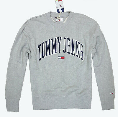 TOMMY Herren Sweatshirt TJM CLEAN COLLEGIATE CREW DM05945 Men Pullover GREY NEU