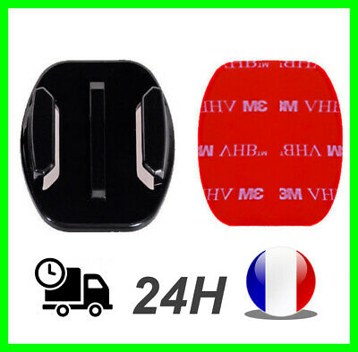 Support GOPRO plat casque Fixation Go Pro hero 3 4 5 6 7 8 flat mount adhesif 3M