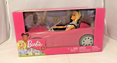 Barbie Doll and Pink Glam Convertible Car Set, Includes Doll and Car
