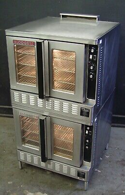Blodgett DFG-200 Commercial Dual Flow Natural Gas Convection Oven Double Stack