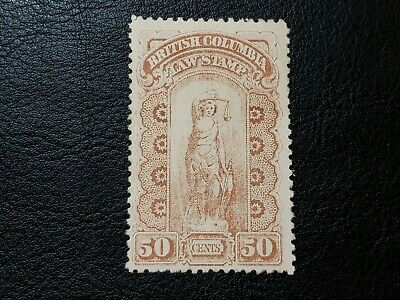 Canada Stamp 1888-91 #BCL7 British Columbia 50 Cents Law Stamp Revenue BC #A014