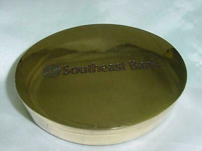 SOUTHEAST BANK SOLID BRASS BOX BY BTS Specialties Felt Lined  Very Heavy NICE