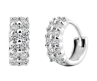 1.2 Ct Signity Diamond D//VVS1 Swirl Earrings Crafted In Solid Sterling Silver