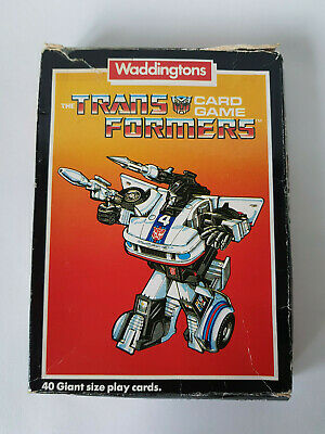 TRANSFORMERS CARD GAME G1 1985 Vintage Waddingtons Complete Rules GOOD CONDITION