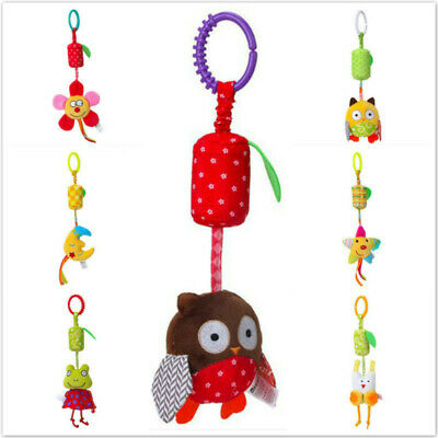 Baby Stroller Crib Cot Pram Hanging Toy Cute Animal Bell Rattles SL