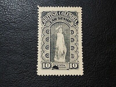 Canada Stamp 1888-91 #BCL8 British Columbia 10 Cents Law Stamp Revenue BC #A034