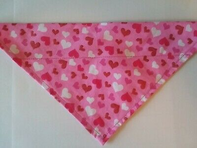 Dog Bandana OVER THE COLLAR,clothes Size S,M,L,XL Tossed Valentine Heart! pet