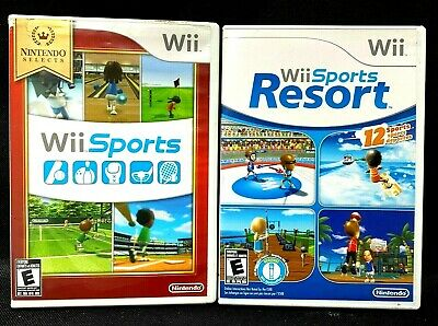 Wii Sports & Wii Sports Resort Game Lot COMPLETE Nintendo