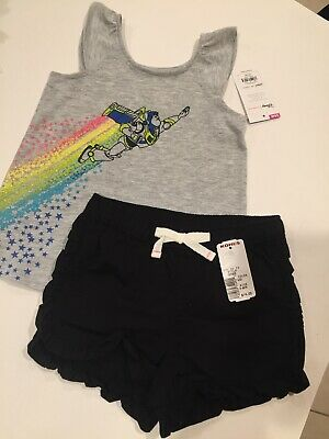 Girls Disney Jumping Beans Toy Story Top And Ruffle Shorts Size 24months New Nwt