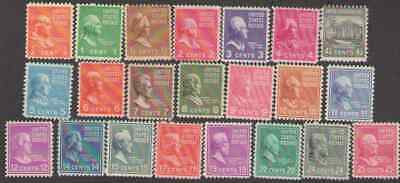 US. 803-822, 824-829. Presidential Issue. Lot of 26. Not Complete Set. MNH. 1938