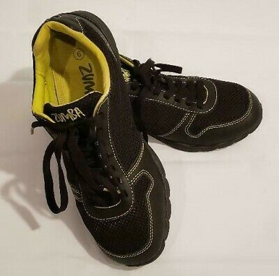 ZUMBA Fitness Women's Sneakers Size 6 Black & Neon Athletic Workout Dance Shoes