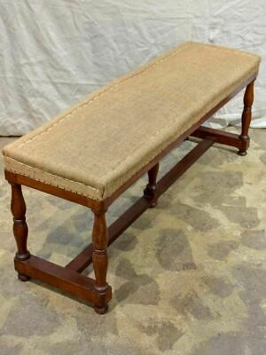 Antique French bistro style bench seat