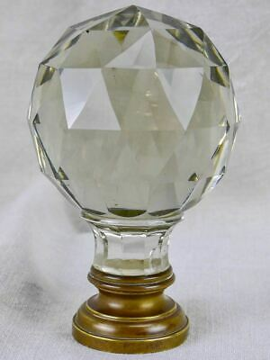 19th Century balustrade ball - crystal