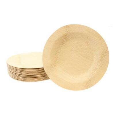 Tablecraft - BAMDRP9 - 9 in Disposable Bamboo Round Plate