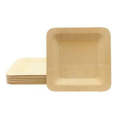 Tablecraft - BAMDSP9 - 9 in Disposable Square Bamboo Plate