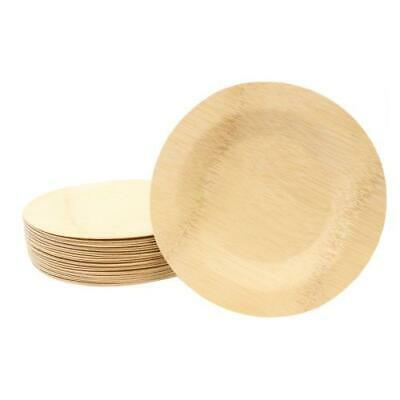 Tablecraft - BAMDRP11 - 11 in Disposable Round Bamboo Plate