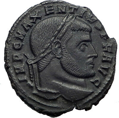 Maxentius Constantine the Great Enemy Ancient Roman Coin GEMINI TWINS i44780