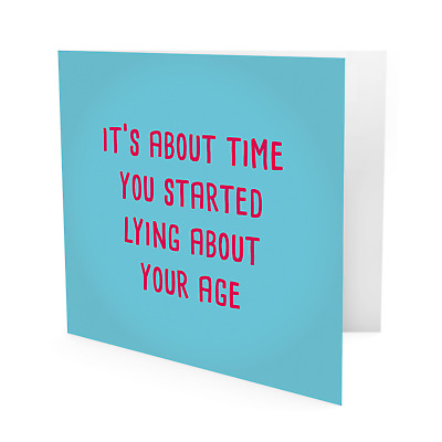 #1019 Funny Rude 40th BIRTHDAY CARD Uncle Auntie Mum Dad Cheeky Greeting Gift