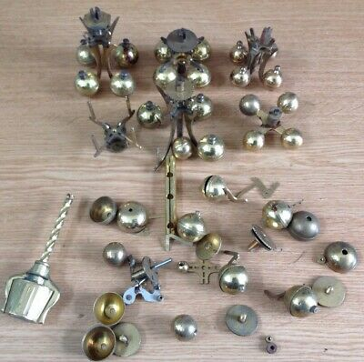 Vintage 400 Day Anniversary Torsion Clock Pendulums Weights Spare Parts Ref 12