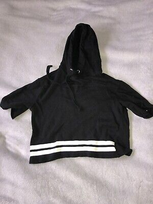 H&M girls black game on hoodie size XS