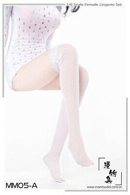 """❶❶VERYCOOL 1//6 Woman white Lace Mesh Stockings for 12/"""" Kumik Phicen HotToys❶❶"""