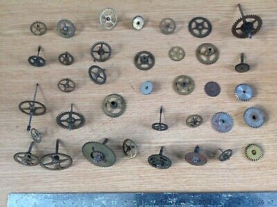 Antique Clock Parts Cogs Hour Minute Wheels Clockmakers Spare Parts R33