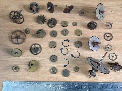 Antique Clock Parts Cogs Clicks Count Snail Wheels Clockmakers Spare Parts R40