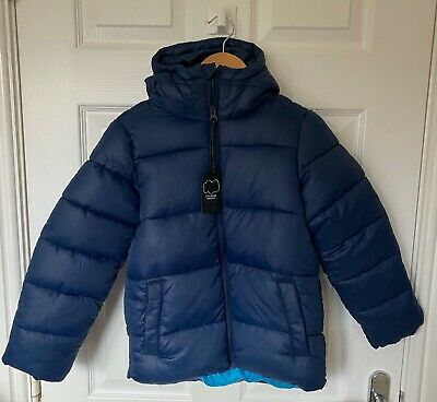 BNWT Boys NEXT Blue Puffer Style Shower Resistant Jacket - Size 7 Years