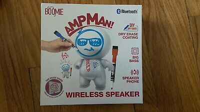 New Boomie Ampman! Wireless Portable Bluetooth Speaker w/ USB & Speakerphone