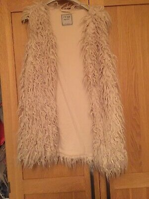 Girls Cream Next Fluffy Gilet Age 10
