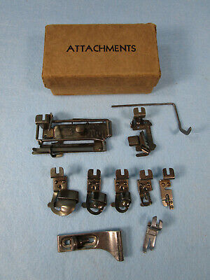 NARROW Top Clamping GREIST Sewing Machine ATTACHMENTS in Box