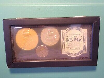 Harry Potter Movie Gringotts Coin SET 3 Coins & Display Box The Noble Collection