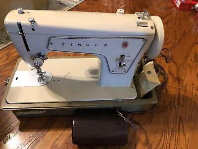 Vintage Singer Sewing Machine Fashion Mate Model 239 with Power Foot Pedal